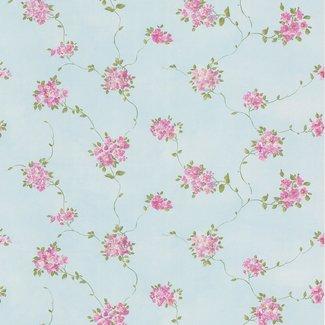 Dutch Wallcoverings Dollhouse 3 Floral Trail paars/blauw - 22171