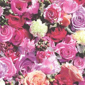 Dutch Wallcoverings Kaleidoscope rozen felroze - J970-10