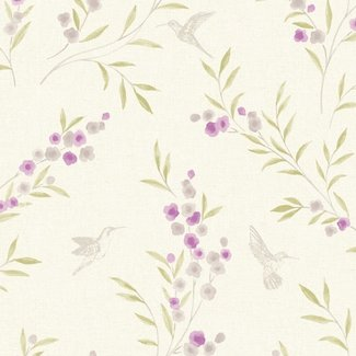 Dutch Wallcoverings Maison Chic Charlotte paars/grijs - 22036