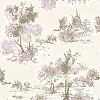 Dutch Wallcoverings Maison Chic Aubree paars - 22054