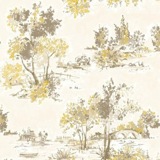 Dutch Wallcoverings Maison Chic Aubree mosterd - 22055
