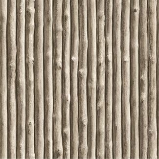 Dutch Wallcoverings Vliesbehang bamboe bruin - 7343-7
