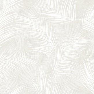 Dutch Wallcoverings Palma palm wit - 18114