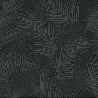 Dutch Wallcoverings Palma palm zwart - 18118
