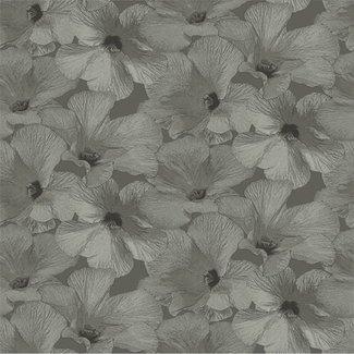 Dutch Wallcoverings Annuell Hibiscus bruin - 11004
