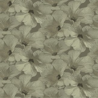 Dutch Wallcoverings Annuell Hibiscus zand - 11005