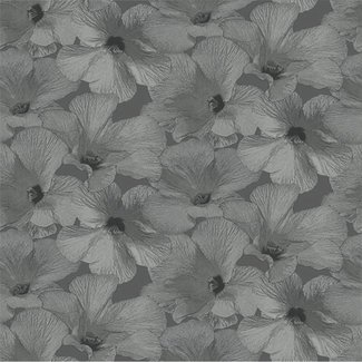 Dutch Wallcoverings Annuell Hibiscus grijs - 11003