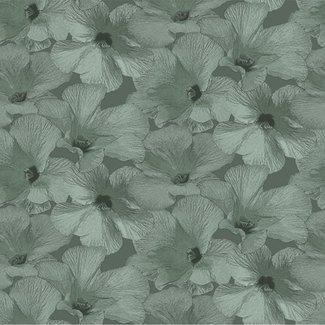 Dutch Wallcoverings Annuell Hibiscus groen - 11001