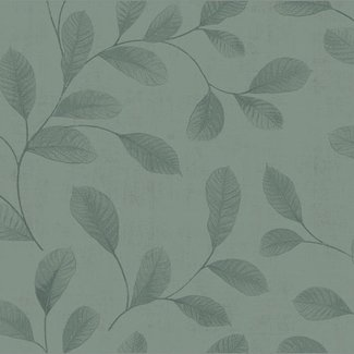 Dutch Wallcoverings Design Leaves turquoise - 12017