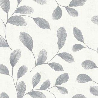 Dutch Wallcoverings Design Leaves white-grey - 12021