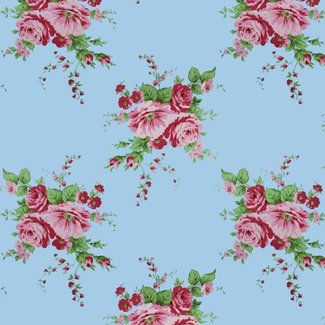 Dutch Wallcoverings Behang roos blauw/rood - 1220-5