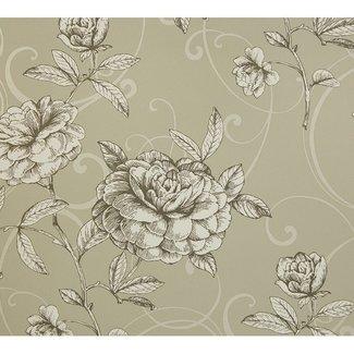 Dutch Wallcoverings Behang bloem beige - 1211-7