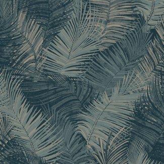 Dutch Wallcoverings Odyssee palm petrol - L934-01