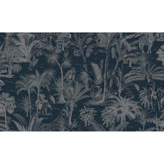 Dutch Wallcoverings Odyssee jungle donkerblauw 106cm - L971-01D