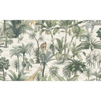 Dutch Wallcoverings Odyssee jungle beige/groen 106cm - L971-04D