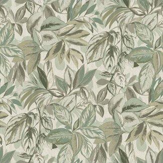 Dutch Wallcoverings Passion Leaf beige/groen - 37018