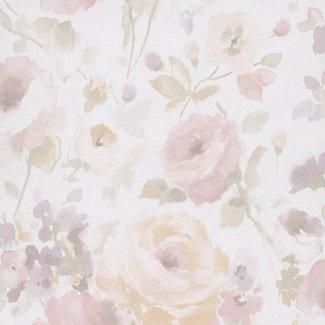 Dutch Wallcoverings Vliesbehang bloem roze/beige - SN3006