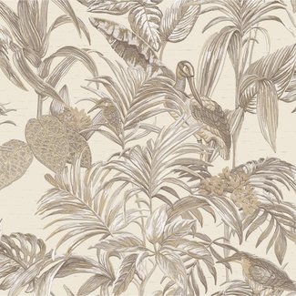 Dutch Wallcoverings Wallstitch bird of paradise cream - DE120012
