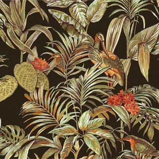 Dutch Wallcoverings Wallstitch bird of paradise black - DE120015
