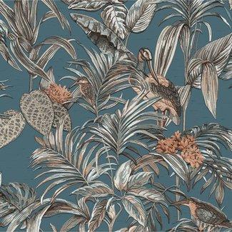 Dutch Wallcoverings Wallstitch bird of paradise blue - DE120016
