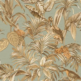 Dutch Wallcoverings Wallstitch bird of paradise teal - DE120017