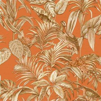 Dutch Wallcoverings Wallstitch bird of paradise orange - DE120019