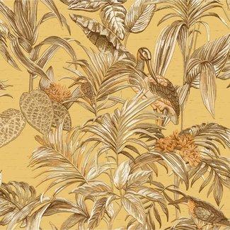Dutch Wallcoverings Embellish bird of paradise mustard - DE120018