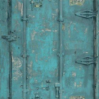 Dutch Wallcoverings Exposed Warehouse deur blauw - EW3201