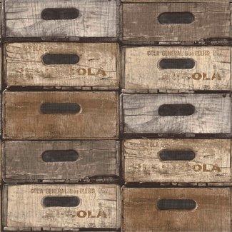 Dutch Wallcoverings Exposed Warehouse laden beige - EW3301