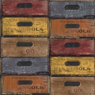 Dutch Wallcoverings Exposed Warehouse laden kleur - EW3303