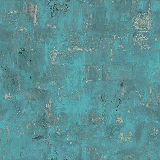 Dutch Wallcoverings Exposed Warehouse oude muur blauw - EW3501
