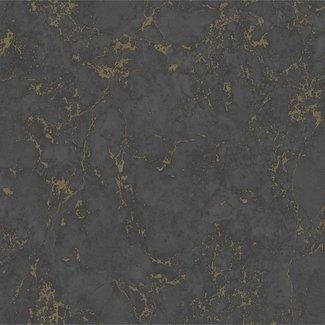Dutch Wallcoverings Home/Hexagone marmer zwart/goud - E855-29