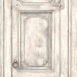 Dutch Wallcoverings Home oude deur beige - L117-07