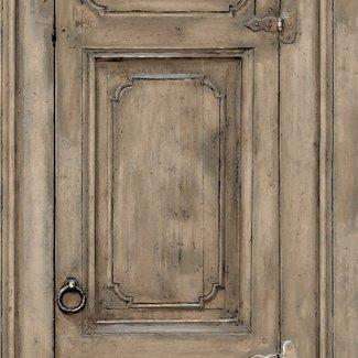 Dutch Wallcoverings Home oude deur bruin - L117-08