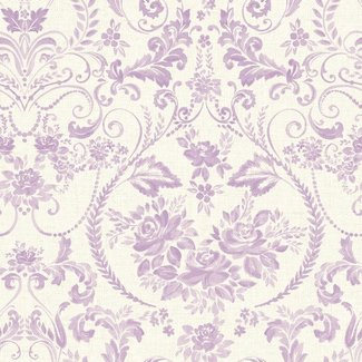 Dutch Wallcoverings Maison Chic Madalene paars/ivoor - 22032
