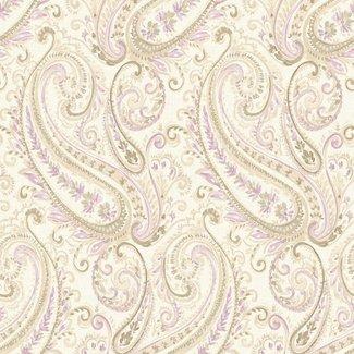 Dutch Wallcoverings Maison Chic Esme ivoor/paars/beige - 22046