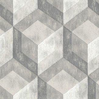 Dutch Wallcoverings Trilogy Rustic wood tile  cool grey  - 22306
