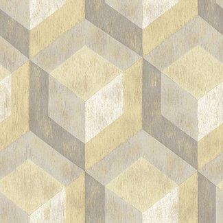 Dutch Wallcoverings Trilogy Rustic Wood Tile beige/geel - 22309