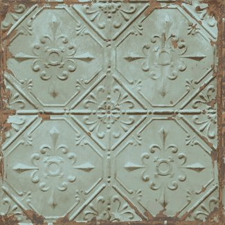 Dutch Wallcoverings Trilogy Tin ceiling  teal  - 22331