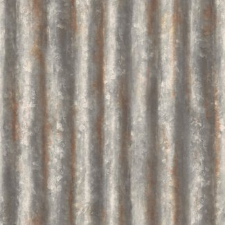 Dutch Wallcoverings Trilogy Corrugated Metal grijs - 22333