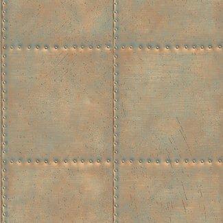 Dutch Wallcoverings Trilogy Sheet Metal koper - 22344