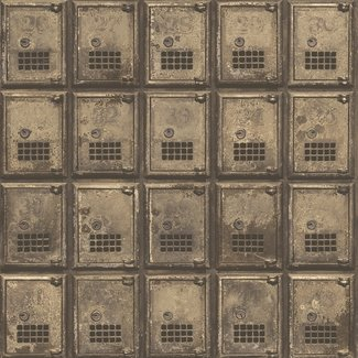 Dutch Wallcoverings Reclaimed Vintage P.O. Boxes bruin - 22354