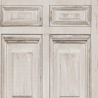 Dutch Wallcoverings Replik houtpanelen grijs/beige - J922-07