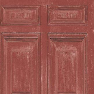 Dutch Wallcoverings Replik houtpanelen rood - J922-10
