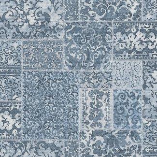 Dutch Wallcoverings Restored Vintage Carpet blauw - 24059