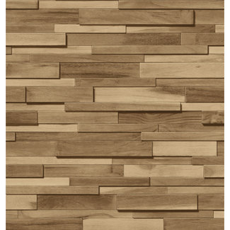 Dutch Wallcoverings Schuimvinyl hout beige - 6867-2
