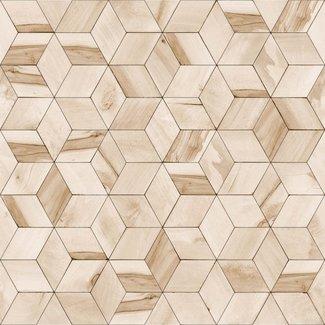 Dutch Wallcoverings Hexagone 3D kubus beige - L592-07