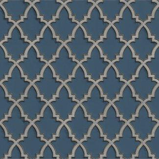 Dutch Wallcoverings Wallstitch Moroccan trellis blue - DE120027
