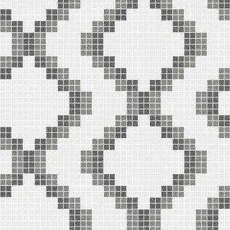 Dutch Wallcoverings Eclipse Mosaic grijs/zwart - 23864