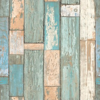 Dutch Wallcoverings Exposed Warehouse sloophout blauw - EW3402